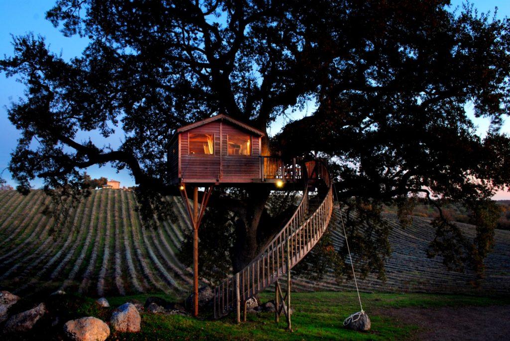 dove dormire in una casa sull'albero