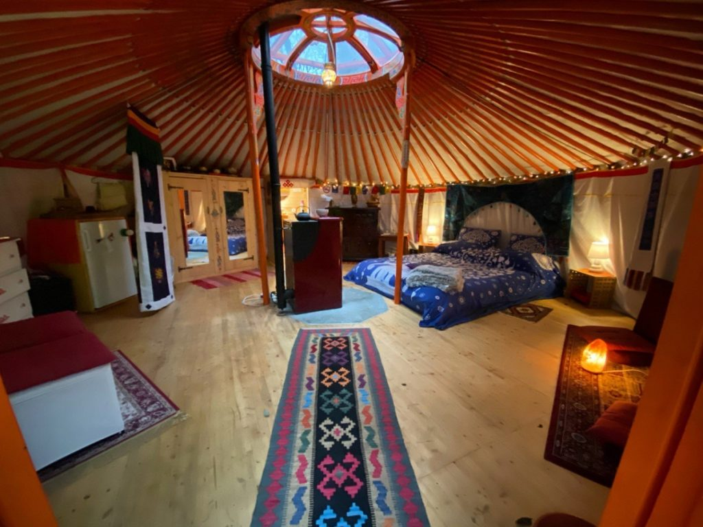 dove dormire in una yurta
