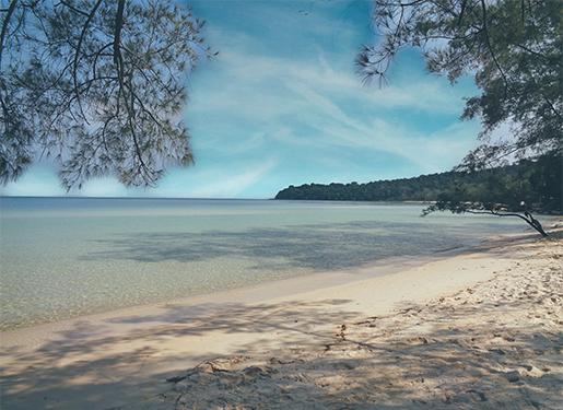 Spiaggia in Cambogia